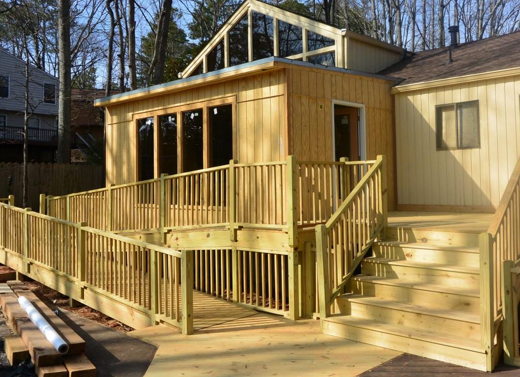 Room Additions New Deck And Handicap Ramp Marietta GA