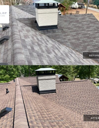 Before and After Roof Replacement Atlanta