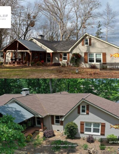Before and After Roof Replacement Woodstock