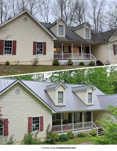 Shingles Replaced With Metal Canton