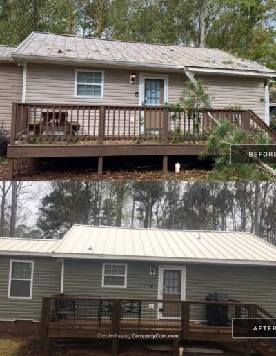 Deck and Metal Roof Replacement - Marietta