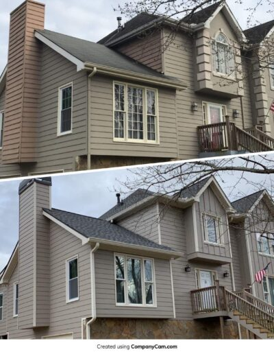 Before and After Siding and Roof Milton