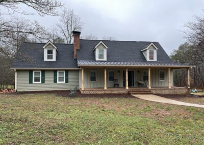Roof Replacement with Metal Over Porch