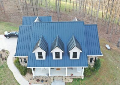 Standing Seam Black Metal Roof Replacement