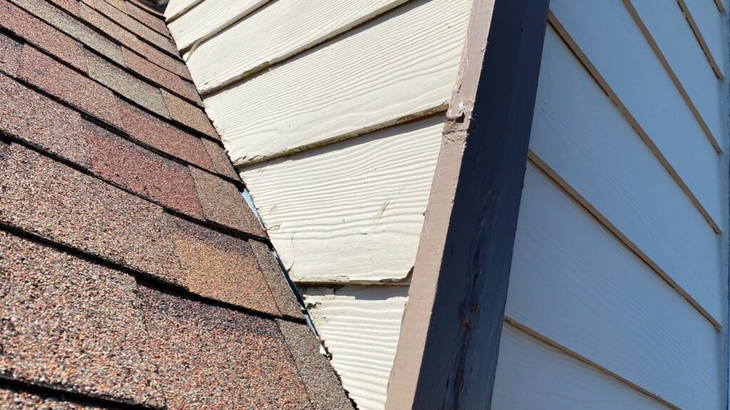 Damaged Siding From Water